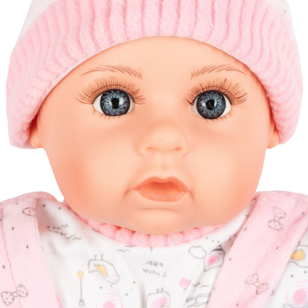 Polsky mluvící a zpívající dětská panenka PlayTo Julia 46 cm - růžová