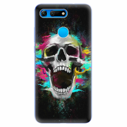 Silikonové pouzdro iSaprio - Skull in Colors - Huawei Honor View 20