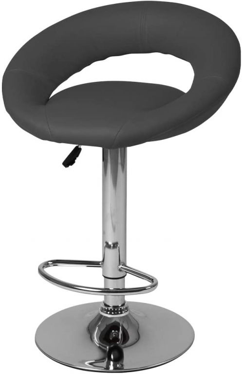 Sada barových židlí, šedá, 2 ks