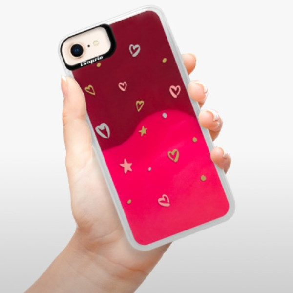Neonové pouzdro Pink iSaprio - Lovely Pattern - iPhone 8