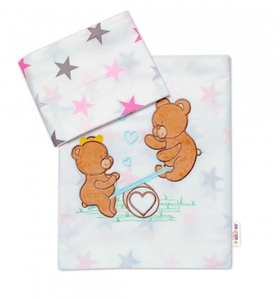 Baby Nellys 2-dílná sada povlečení do postýlky, dívčí barvy, různé