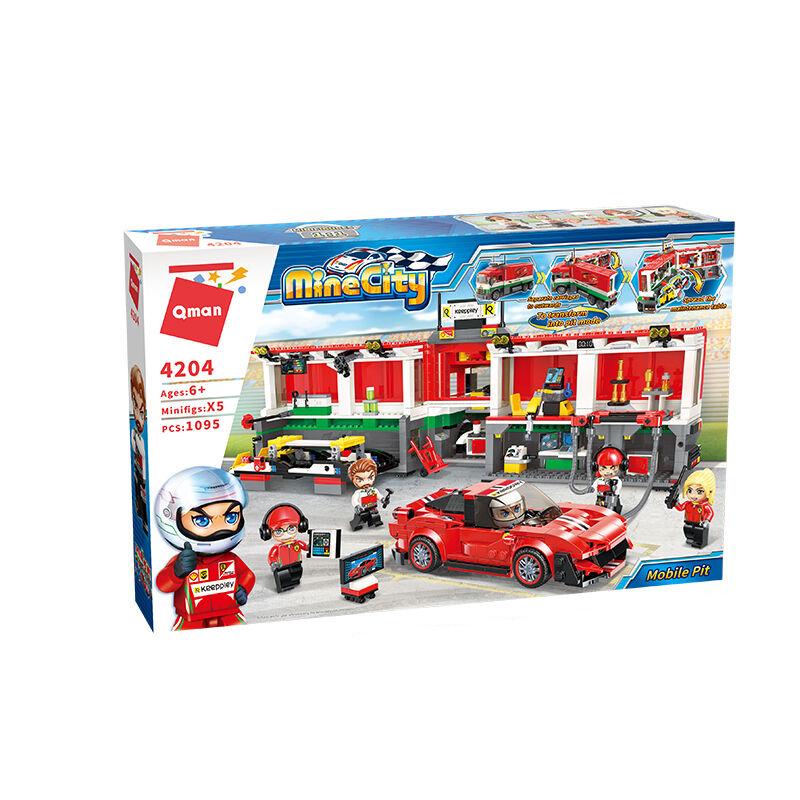 Stavebnice Qman MineCity 4204 Mobilní závodní box