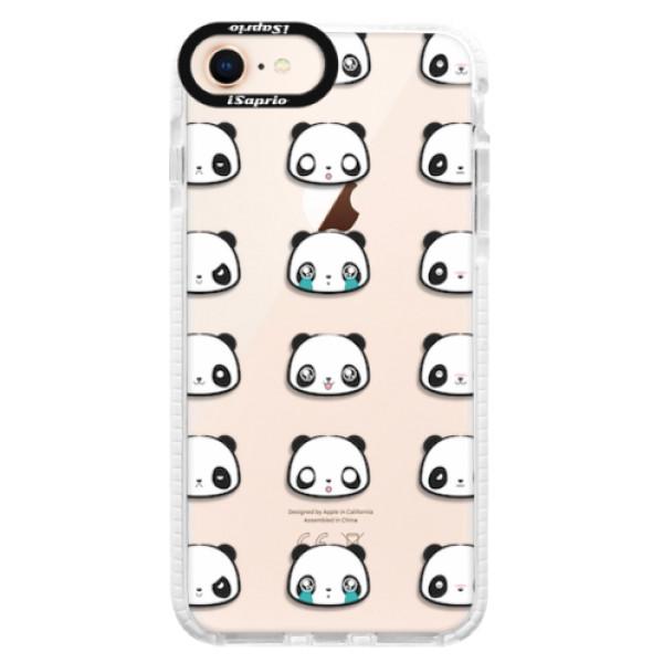 Silikonové pouzdro Bumper iSaprio - Panda pattern 01 - iPhone 8