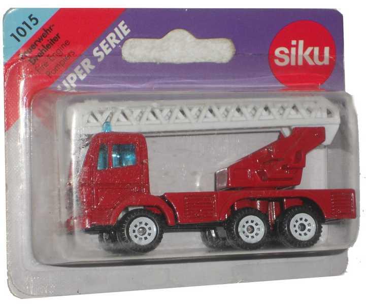 SIKU Auto hasičské+žebřík kovové 1015