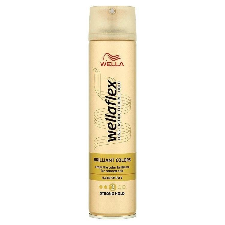 Wellaflex Brilliant Colors silné zpevnění lak na vlasy pro barvené vlasy 250 ml