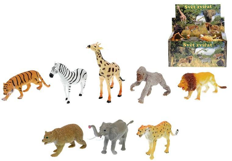 Zvířátka safari (divoká) 13-20 cm  8 druhů