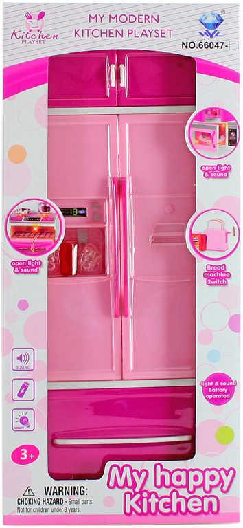 Dětská lednice do kuchyně set s doplňky plast