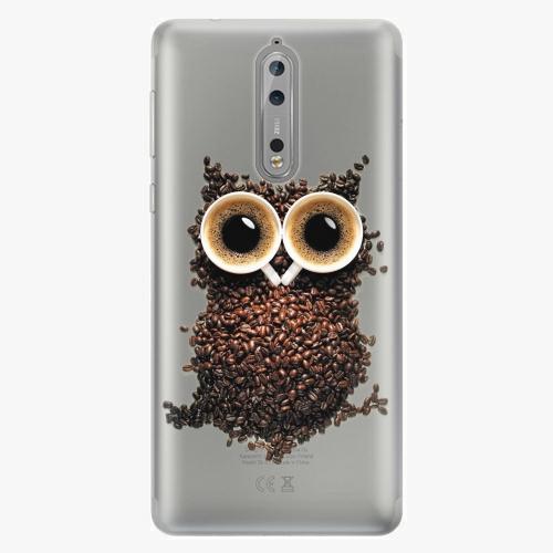 Plastový kryt iSaprio - Owl And Coffee - Nokia 8