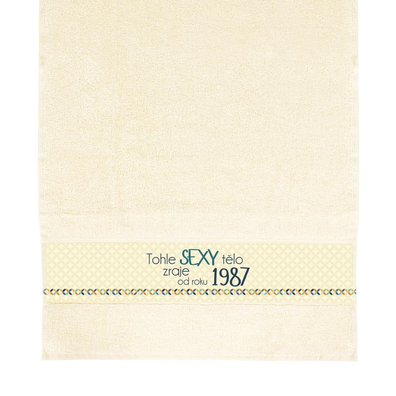 ALBI - Béžový ručník - 1987