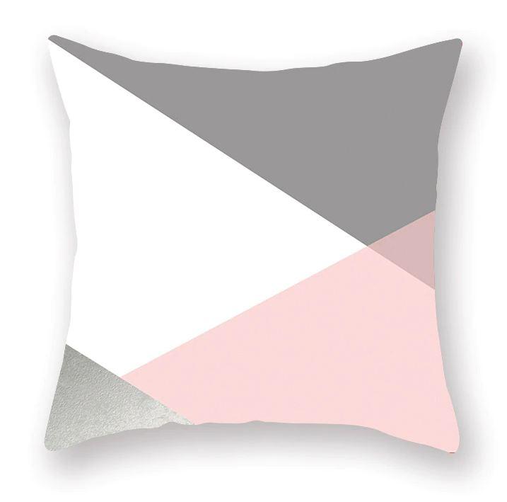 Povlak na polštář v severském stylu - Šedo-bílá