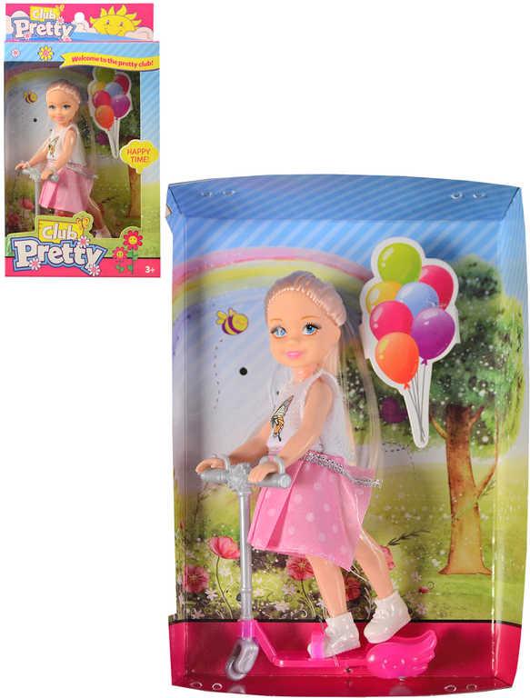 Panenka malá 13cm s koloběžkou herní set v krabičce