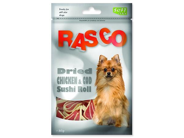 Pochoutka RASCO Dog sushi z kuřete a tresky 80g