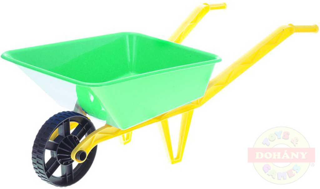 MAD Dětské kolečko (kolečka) na písek zelené 72x29x25cm plast