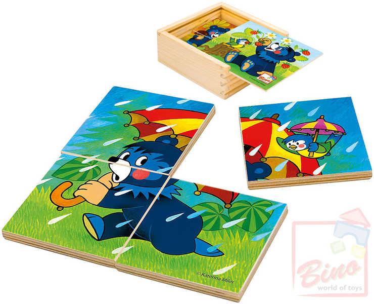 BINO DŘEVO Puzzle Baribal moje první puzzle * DŘEVĚNÉ HRAČKY *