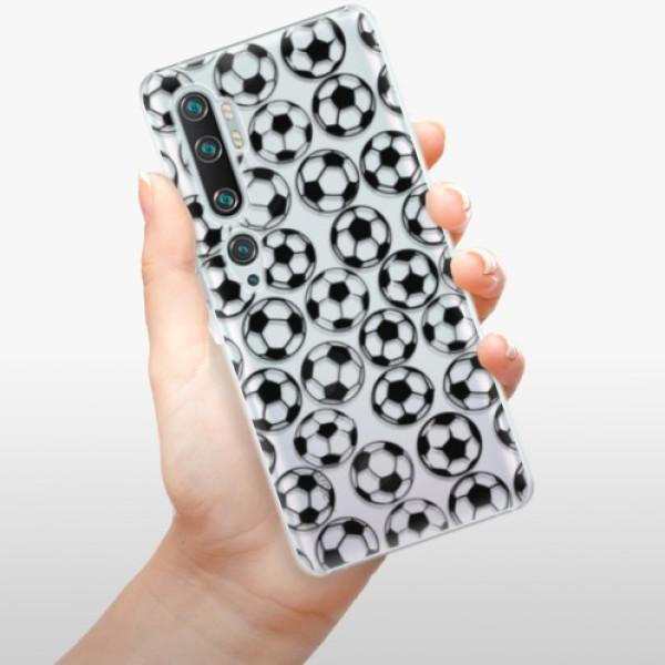 Plastové pouzdro iSaprio - Football pattern - black - Xiaomi Mi Note 10 / Note 10 Pro