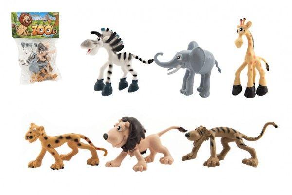 Zvířátka safari ZOO plast 9-10cm 6ks v sáčku