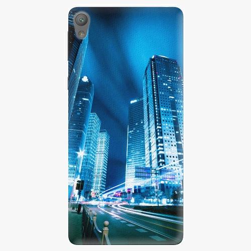 Plastový kryt iSaprio - Night City Blue - Sony Xperia E5