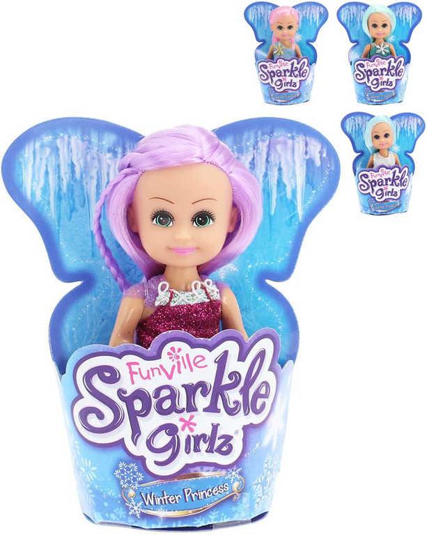Sparkle Girlz panenka zimní princezna 12 cm v kornoutu - 4 druhy