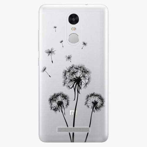 Plastový kryt iSaprio - Three Dandelions - black - Xiaomi Redmi Note 3 Pro