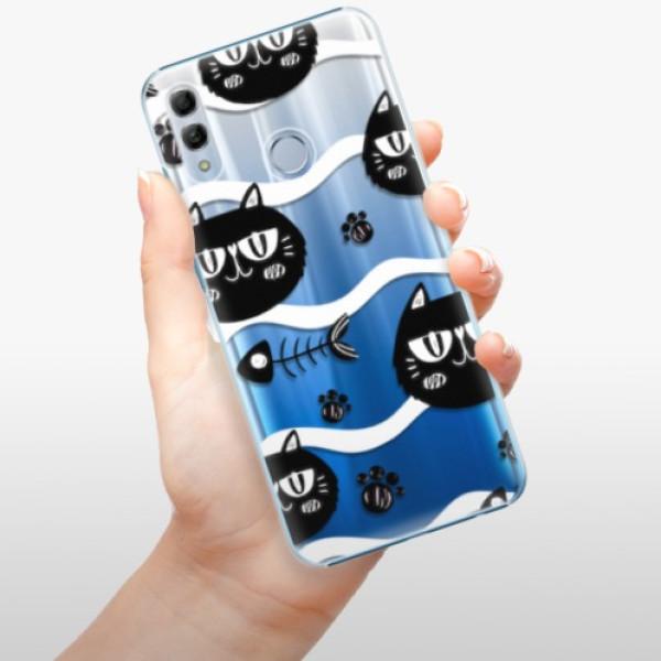 Plastové pouzdro iSaprio - Cat pattern 04 - Huawei Honor 10 Lite