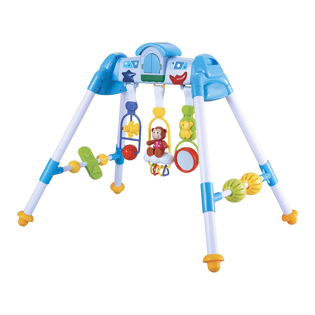 Dětská hrající edukační hrazdička BAYO premium blue - modrá