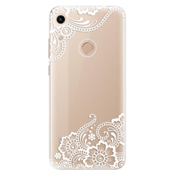Odolné silikonové pouzdro iSaprio - White Lace 02 - Huawei Honor 8A