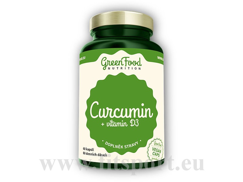 Curcumin + Vitamin D3 90 vegan kapslí