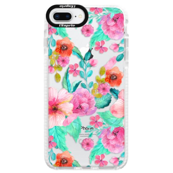 Silikonové pouzdro Bumper iSaprio - Flower Pattern 01 - iPhone 8 Plus