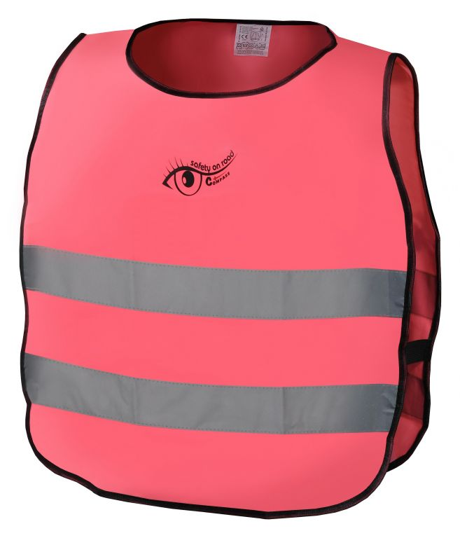 Výstražná růžová dětská vesta S.O.R.