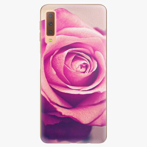 Plastový kryt iSaprio - Pink Rose - Samsung Galaxy A7 (2018)