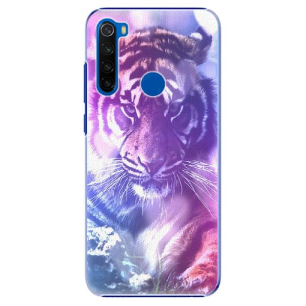 Plastové pouzdro iSaprio - Purple Tiger - Xiaomi Redmi Note 8T
