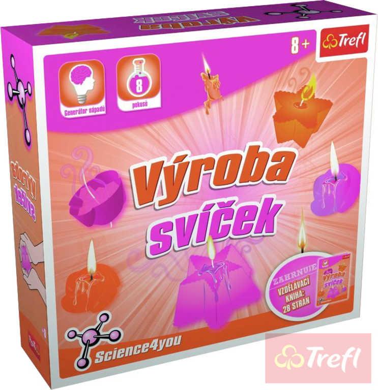 TREFL HRA Vědecká sada Výroba svíček 8 pokusů Science 4 you v krabici