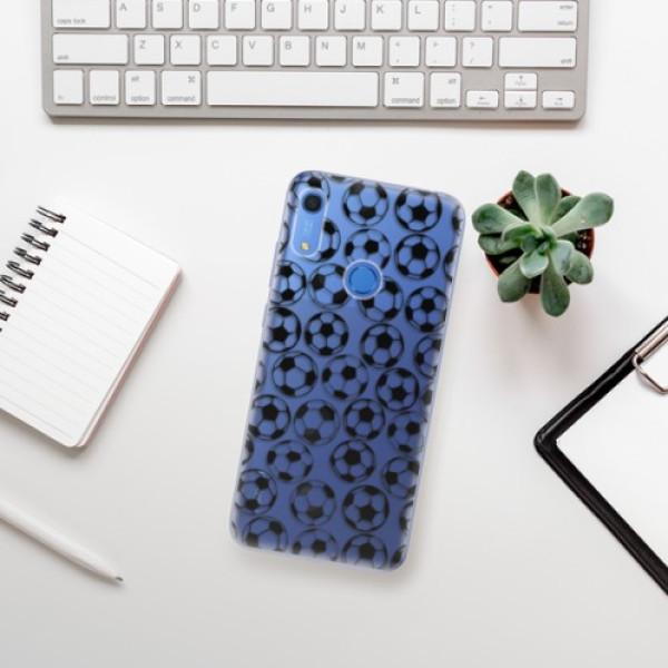 Odolné silikonové pouzdro iSaprio - Football pattern - black - Huawei Y6s