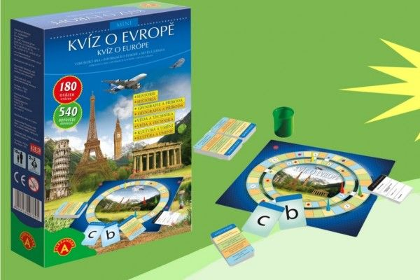 Kvíz o Evropě společenská hra v krabičce