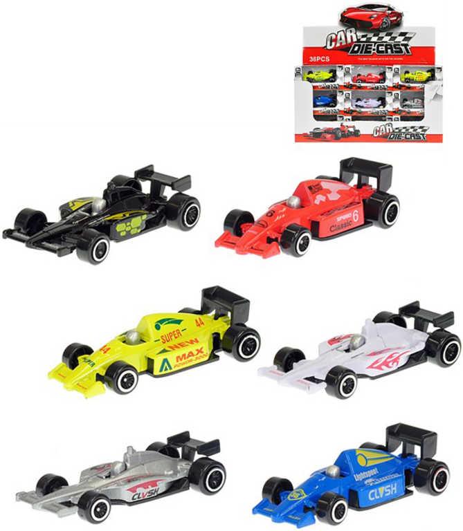 Auto závodní formule 7,5 cm model 1:87 volný chod - 2 druhy, 6 barev