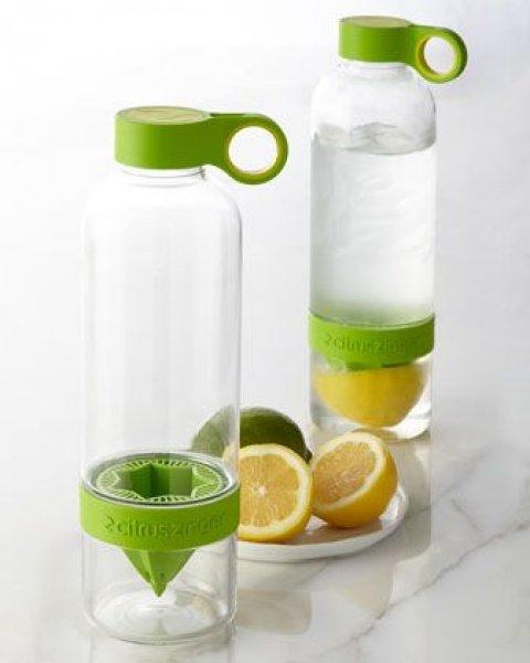 Láhev na pití s lisem na citrusy - zelená