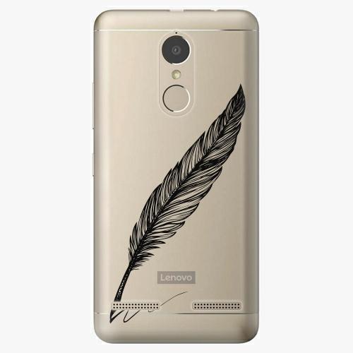 Plastový kryt iSaprio - Writing By Feather - black - Lenovo K6