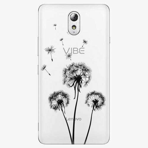 Plastový kryt iSaprio - Three Dandelions - black - Lenovo P1m