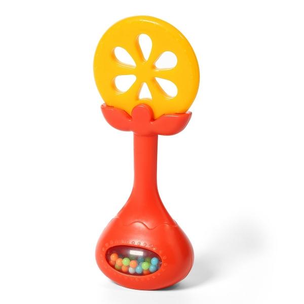 BabyOno Edukační kousátko s chrastítkem - Pomeranč, kat. 499/01