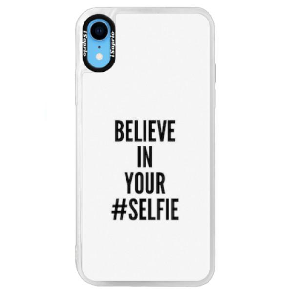 Neonové pouzdro Blue iSaprio - Selfie - iPhone XR