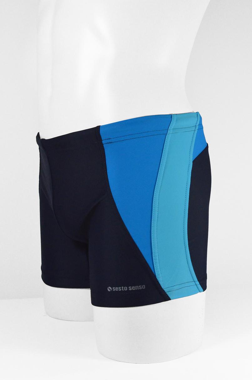 Pánské plavky boxerky BD 378 - SESTO SENSO - Tmavě