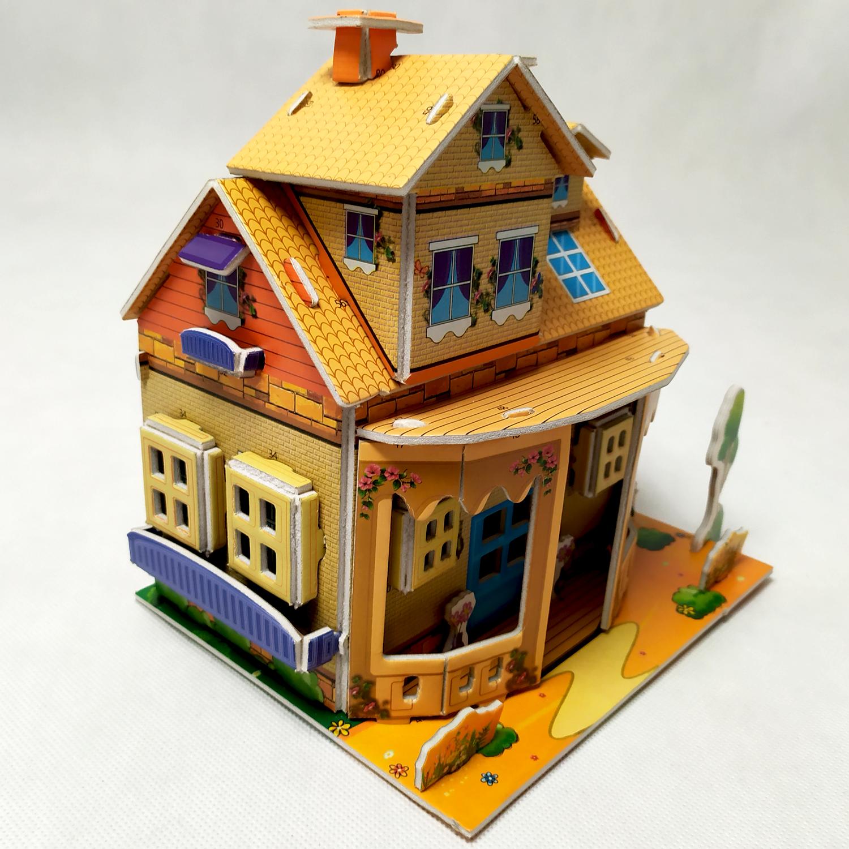 3D puzzle pro děti dům - oranžový