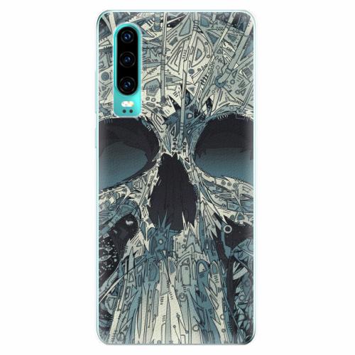 Silikonové pouzdro iSaprio - Abstract Skull - Huawei P30