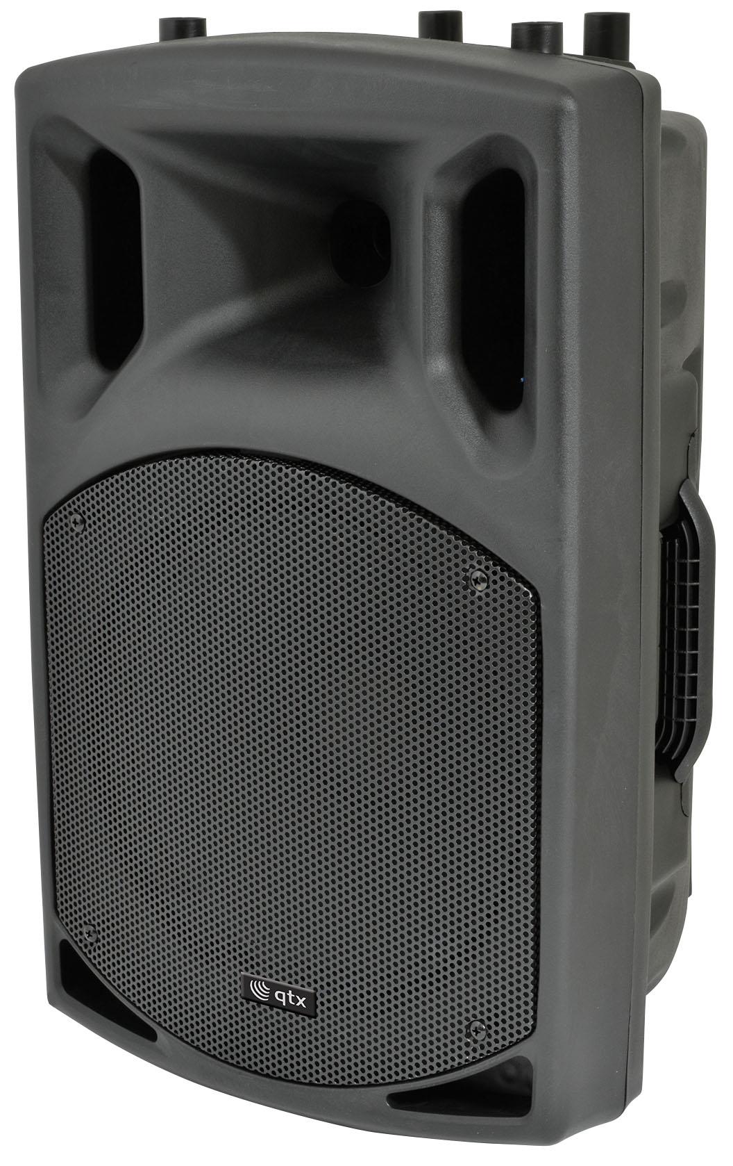 """QTX QX-12, mobilní 12"""" zvukový systém MP3/BT/FM/2x VHF, 200W"""