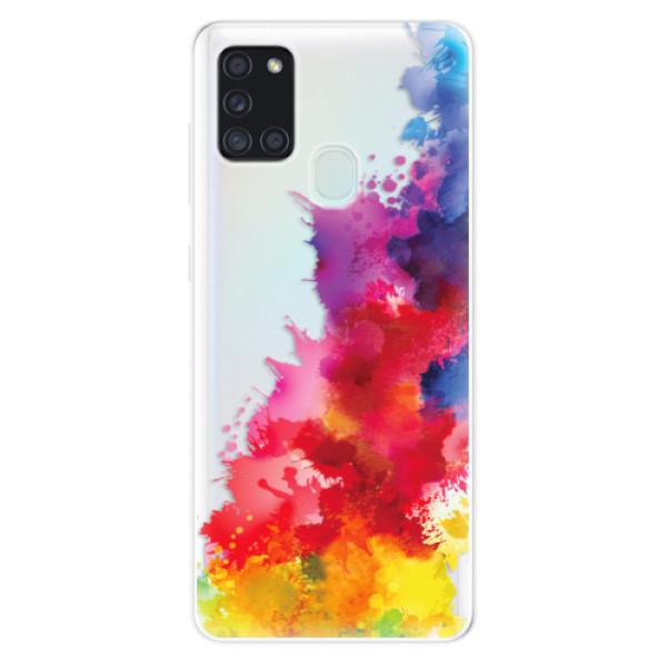 Odolné silikonové pouzdro iSaprio - Color Splash 01 - Samsung Galaxy A21s
