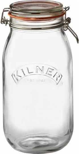 KILNER zavařovací sklenice s klipem kulatá 2l