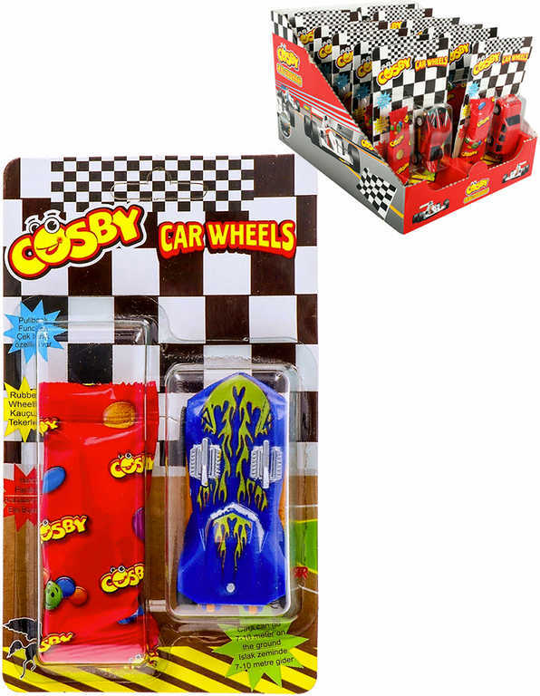 Cosby set autíčko 7,5cm hračka + cukrovinka - 10 druhů