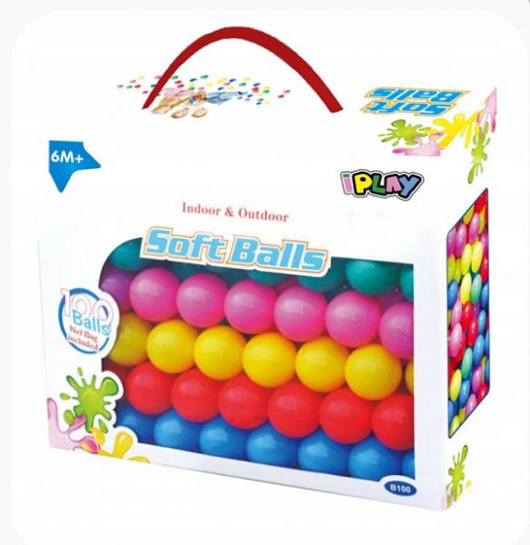 IPLAY Náhradní balónky do bazénu - 100ks, mix