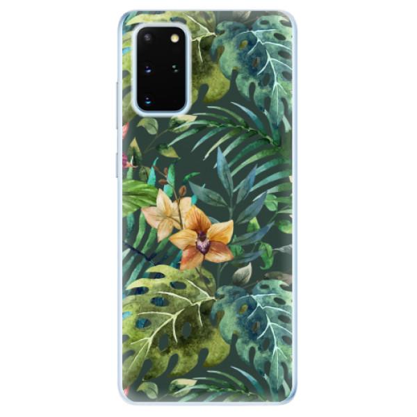Odolné silikonové pouzdro iSaprio - Tropical Green 02 - Samsung Galaxy S20+