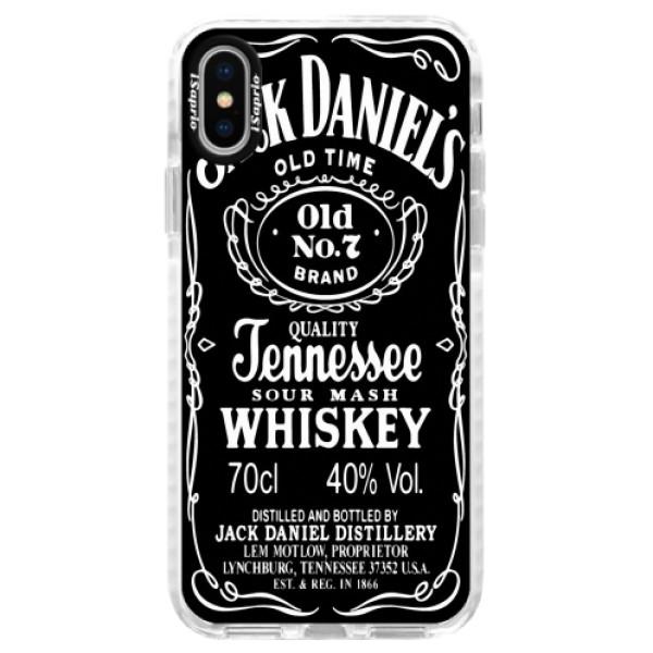 Silikonové pouzdro Bumper iSaprio - Jack Daniels - iPhone X